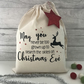 Christmas Eve Bag, Christmas Sack, Christmas Gift Bag, Christmas Eve Decoration