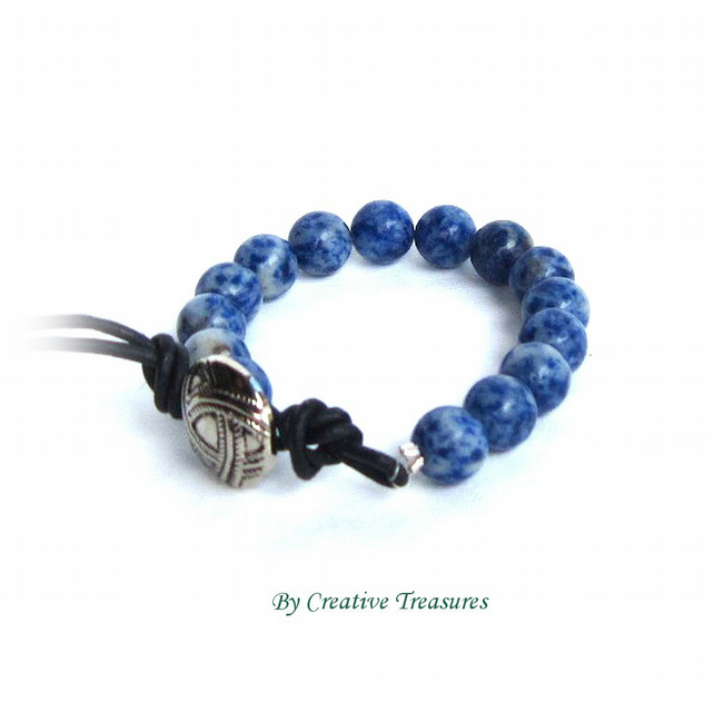 Blue Sodalite Gemstone Bracelet 25% OFF
