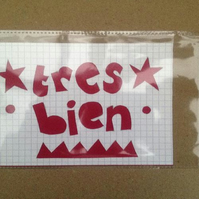 Handcut artwork: tres bien