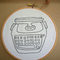 Hand Embroidered Image: