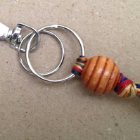 Handmade mixed media keychain