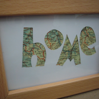 Handcut artwork: home