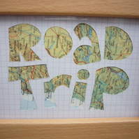 Handcut artwork: Road Trip