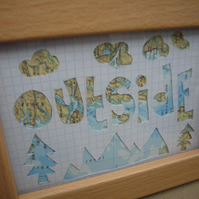 Handcut artwork: outside