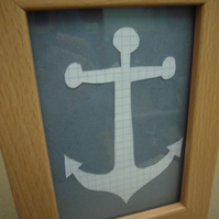 Handcut artwork: anchor