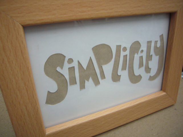 Handcut artwork: simplicity