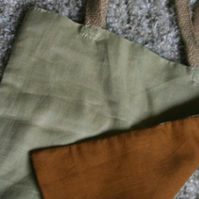 Handmade linen & cotton tote bag