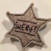 Felt sheriff badge