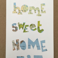 Handcut artwork: Home sweet home