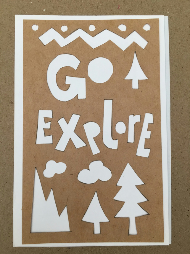 Handcut artwork: Go explore