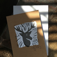 Handprint card: deer