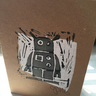 Handprint card: robot