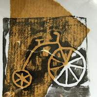 Handprint card: penny farthing