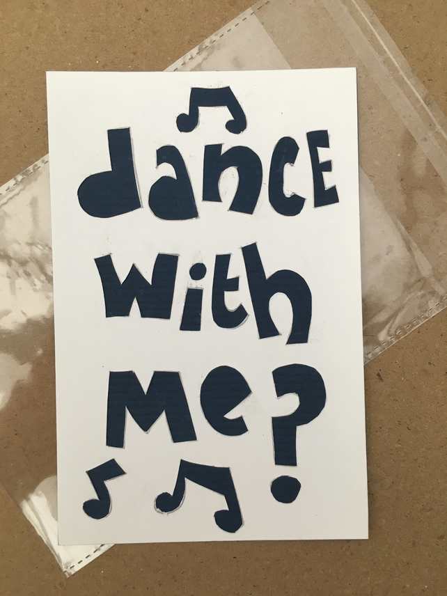 Handcut artwork: dance with me?