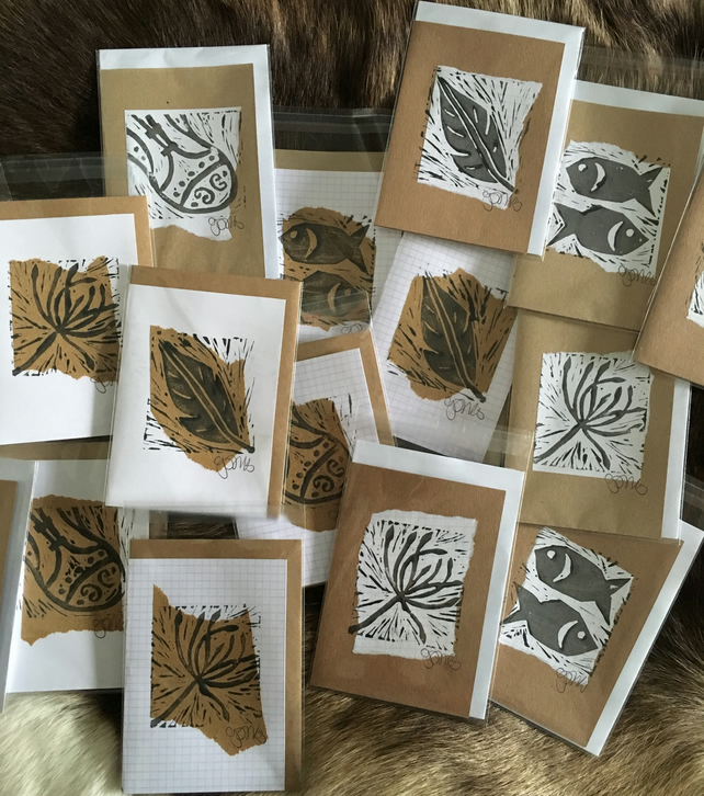 Handprint cards: pack of 10 various designs