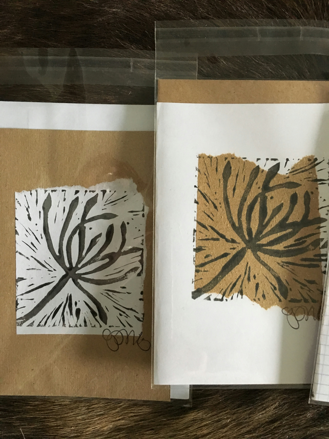 Handprint card: seed head