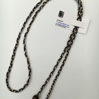 Hand-plaited wrap necklace (number 14)