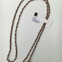 Hand-plaited wrap necklace (number 12)