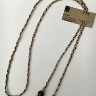 Hand-plaited wrap necklace (number 11)
