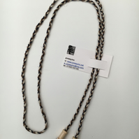 Hand-plaited wrap necklace (number 19)