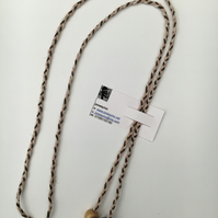 Hand-plaited wrap necklace (number 7)