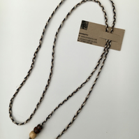 Hand-plaited wrap necklace (number 5)
