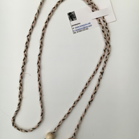 Hand-plaited wrap necklace (number 4)