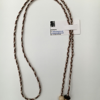 Hand-plaited wrap necklace (number 1)