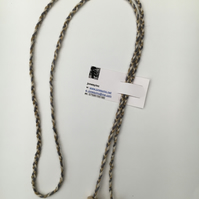 Hand-plaited wrap necklace (number 18)
