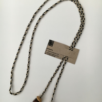 Hand-plaited wrap necklace (number 17)