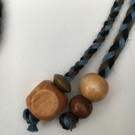 Hand-plaited wrap necklace (number 21)