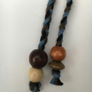Hand-plaited wrap necklace (number 23)