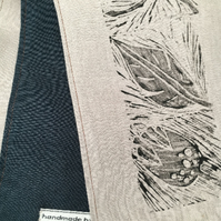 Linen and cotton scarf