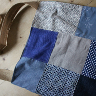 Handmade patchwork shoulder bag