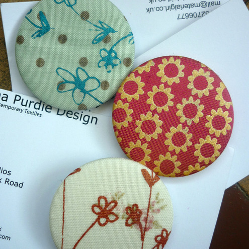 Hand Printed Fabric Badges
