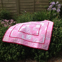 Baby girl Cot Quilt ''Sweet-heart''
