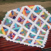 cot quilt    patchwork    '' Rainbow Wishes''