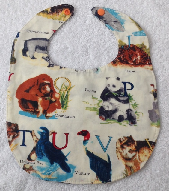 Alphabet Jungle Bib