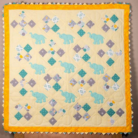 Baby Quilt Elephants On Parade