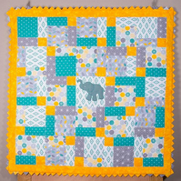Baby Elephant cot quilt