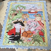 Baby Cot quilt  Island Friends Pirate Jungle Animals