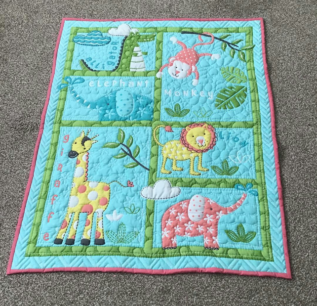 Jungle Fun Baby Quilt