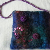 Sequinned felt bag