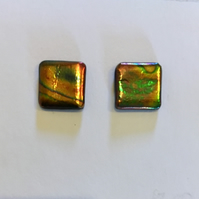 Small Square Multicolour Stud Earrings