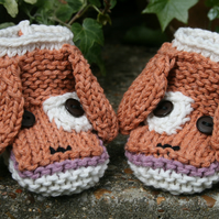 KNITTING PATTERN in pdf - Playful Puppy - Baby Booties