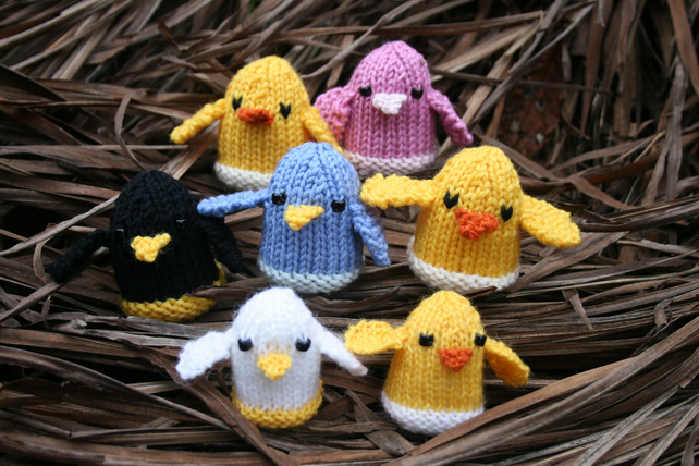 Knitting PDF PATTERN - The Chicks - Cute Softies to make