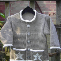 Little Star - Knitting Pattern in pdf for baby's cardiganjacket