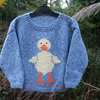 Daphne Duck - Knitting Pattern in pdf for child's sweater