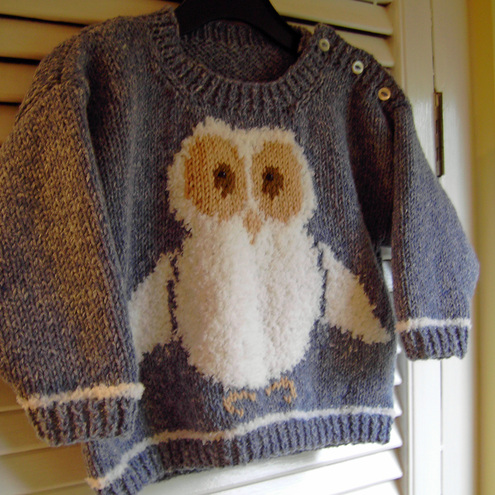 Oliver Owl Knitting Pattern In Pdf For A Chil Folksy