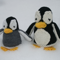 Knitting PDF Pattern - Perceval and Peppy Penguin - Cute Penguin Softies